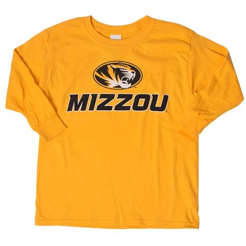 7f5a6662e The Mizzou Store - Mizzou Kids' Oval Tiger Head Gold Crew Neck Shirt
