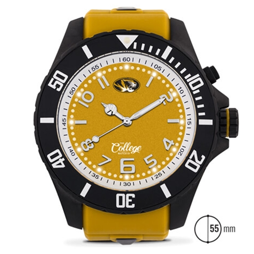 Mizzou Men's 55mm Silicone Band Watch