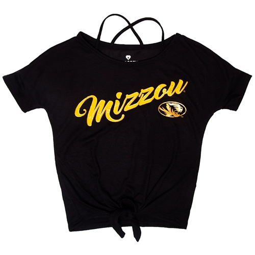 b169926bca7b The Mizzou Store - Mizzou Kids' Glitter Oval Tiger Head Black T-Shirt