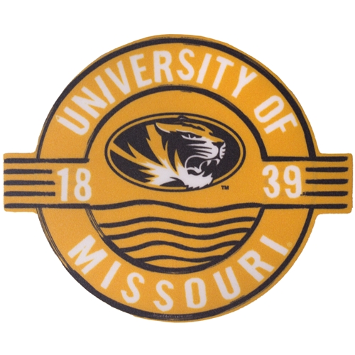 University of Missouri Tigers 1839 Gold Circle Sticker