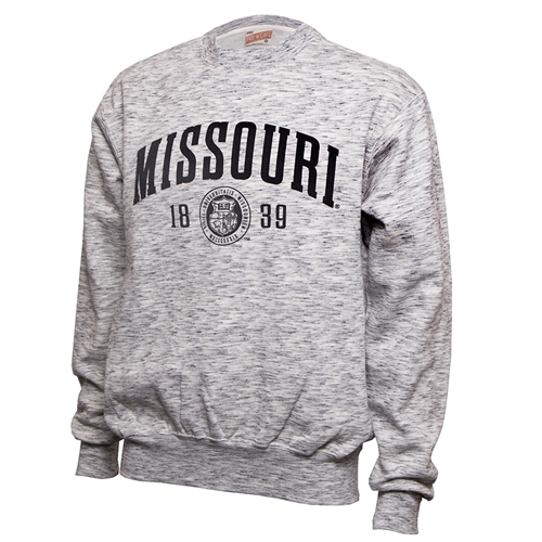 Missouri Official Seal Black & White Crew Neck Sweatshirt