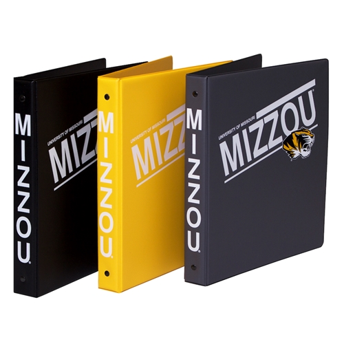 "University of Missouri Mizzou Tigers Slanted 1"" Binder"