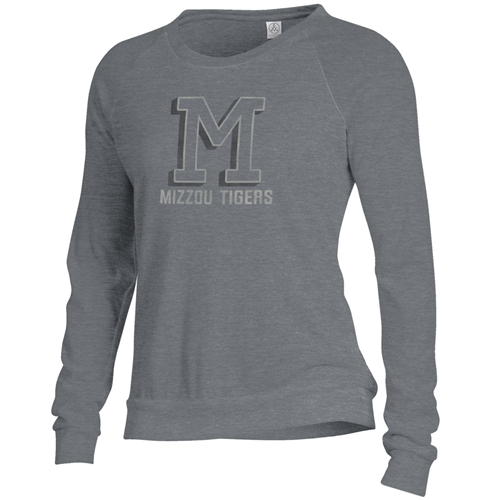 Mizzou Tigers Junior's M Charcoal Grey Sweatshirt