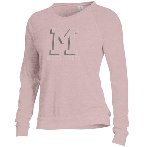 Mizzou Tigers Junior's M Light Pink Sweatshirt