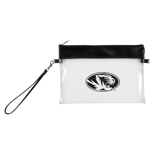 Mizzou Game Day Clear Oval Tiger Head Wristlet