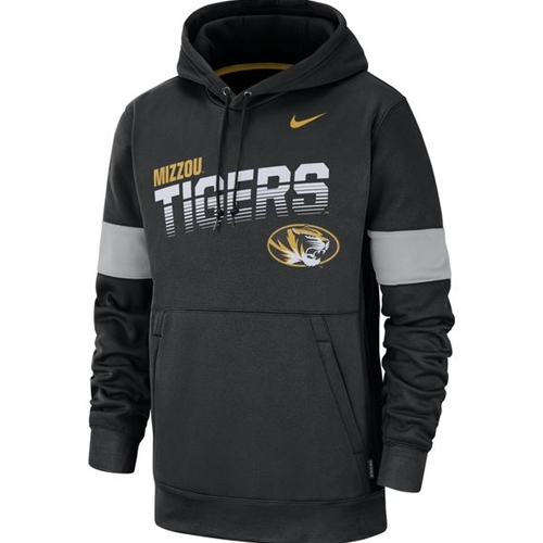Mizzou Nike® 2019 Tigers Oval Tiger Head Therma Fit Black Hoodie