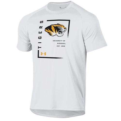 University of Missouri Tigers Tiger Head 1830 Under Armour White T-Shirt