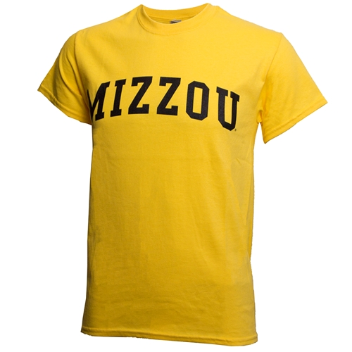 Mizzou Yellow Crew Neck T-Shirt