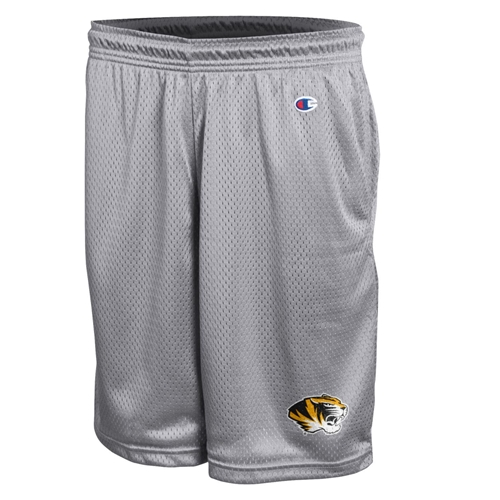Mizzou Champion Tiger Head Grey Mesh Shorts