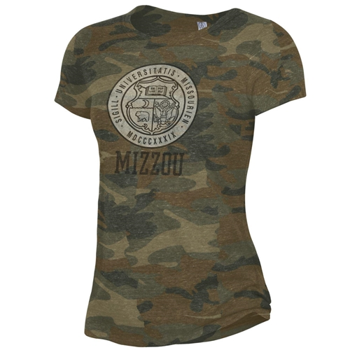 Mizzou Historic Seal Camoflauge T-Shirt