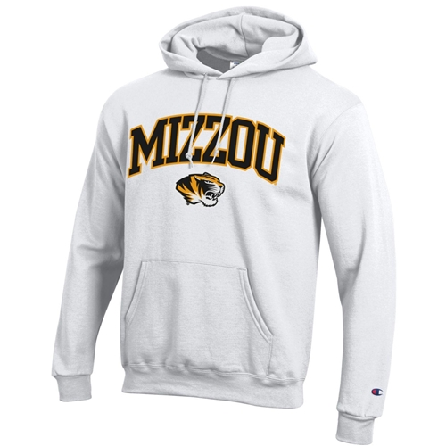 Mizzou Tiger Head Champion White Hoodie