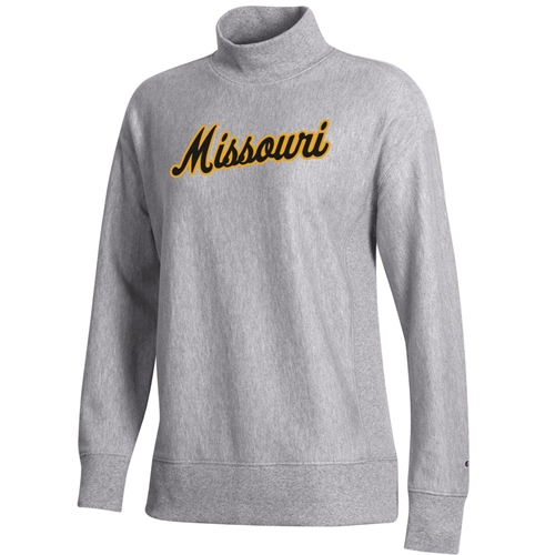 Missouri Women's Mock Neck Grey Sweatshirt