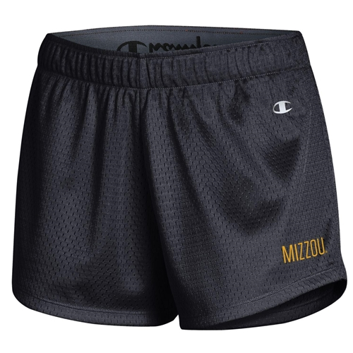 Mizzou Junior's Black Mesh Shorts