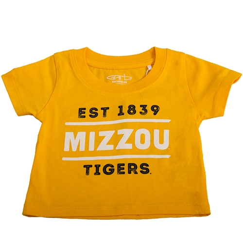 Mizzou Tigers Est 1839 Gold T-Shirt