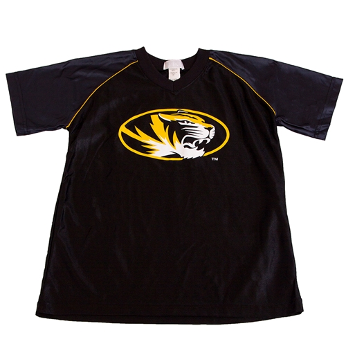 Mizzou Oval Tiger Head Toddler Black Jersey