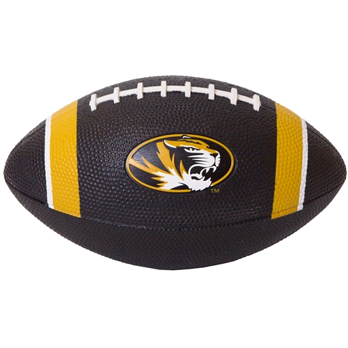 Mizzou Oval Tiger Head Nike® Black and Gold Mini Football
