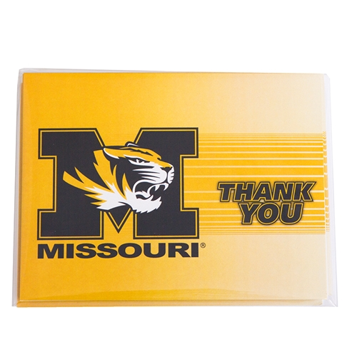 Missouri Block M Tiger Thank You Cards