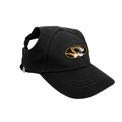 Mizzou Oval Tiger Head Black Pet Baseball Hat