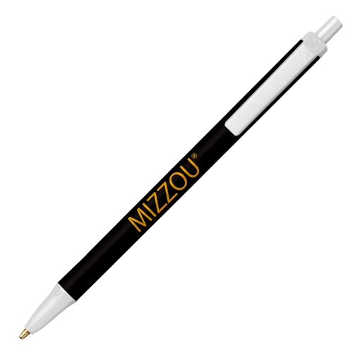 Mizzou Bic Black, White and Gold Pen