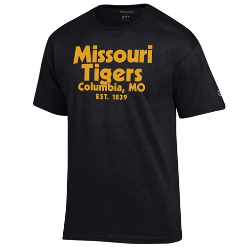 Missouri Tigers Columbia MO Est 1839 Champion Black T-Shirt