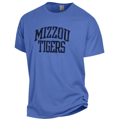 Mizzou Tigers Tiger Head Comfort Wash Sapphire Blue T-Shirt
