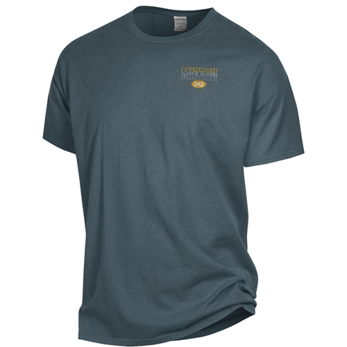 Mizzou Dad Tiger Head University of Missouri Est 1839 Grey Crew Neck Shirt