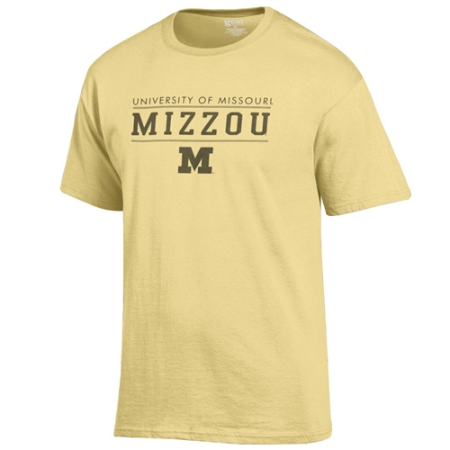 Mizzou M University of Missouri Yelow T-Shirt