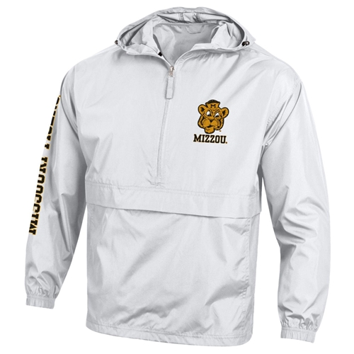 Mizzou Beanie Tiger Champion White Packable Jacket