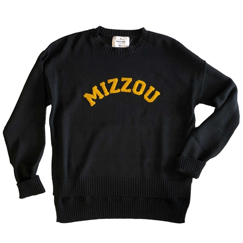 Mizzou Black Textured Sweater