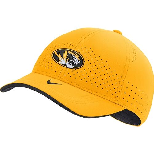 oportunidad período sufrimiento  The Mizzou Store - Mizzou Oval Tiger Head Nike® Gold Adjustable Hat