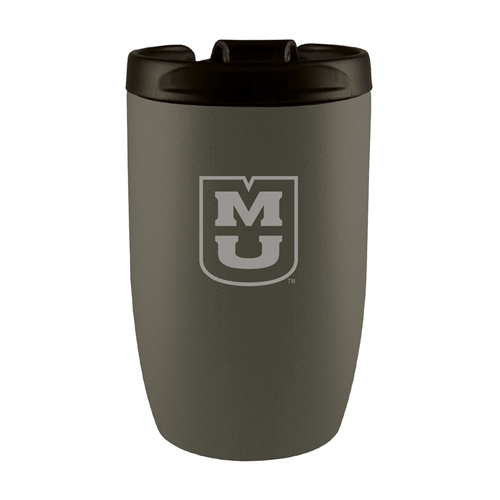 Mizzou Stacked MU Silver Travel Cup