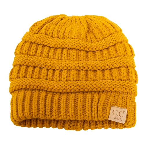 C.C. Kids Gold Knit Lined Beanie