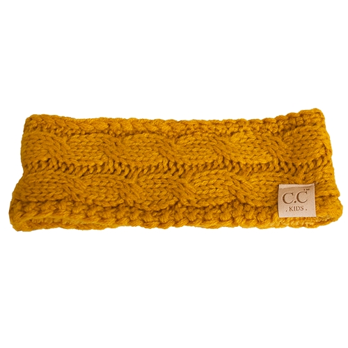 C.C. Kids Gold Knit Lined Headband
