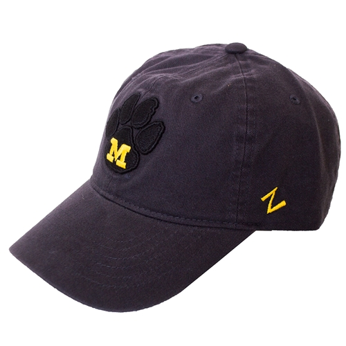 Mizzou M Paw Black Adjustable Hat
