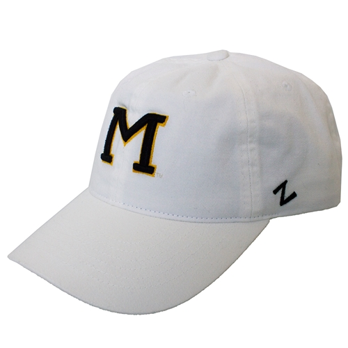 Mizzou Block M White Adjustable Hat