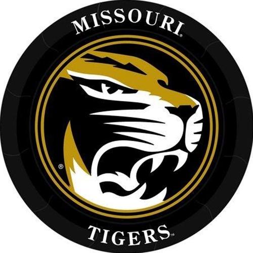 Missouri Tiger Head Black & Gold Paper