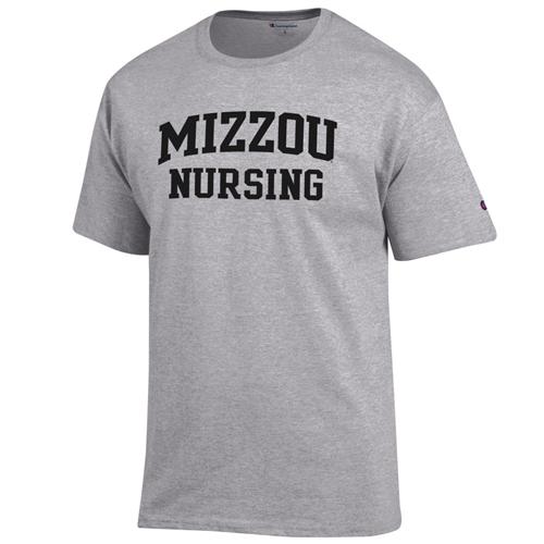 1921ab7cf36af The Mizzou Store - Mizzou Nursing Grey Crew Neck T-Shirt