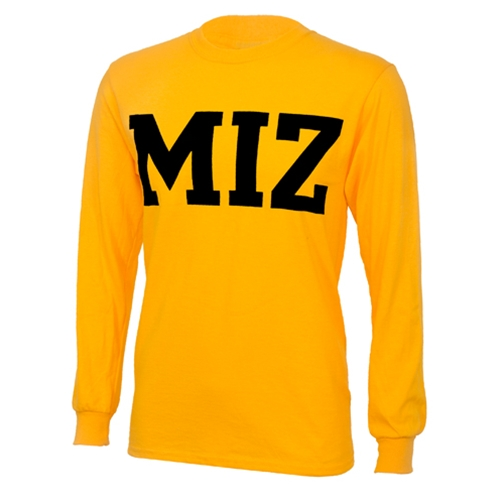 MIZ-ZOU Gold Crew Neck Shirt