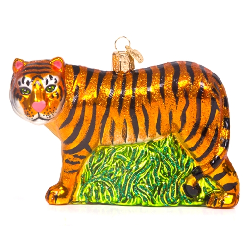 Mizzou Tiger Full Body Glass Ornament