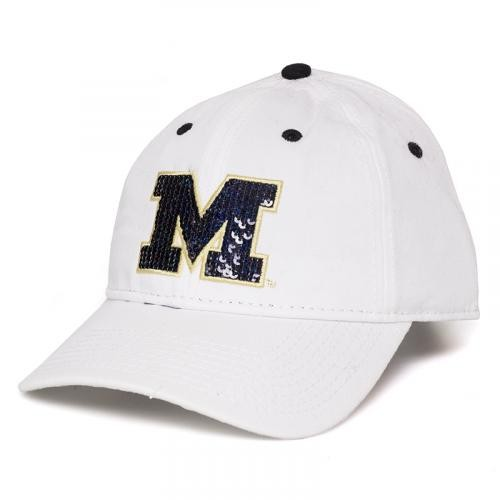 Mizzou Juniors' Sequin White Adjustable Hat