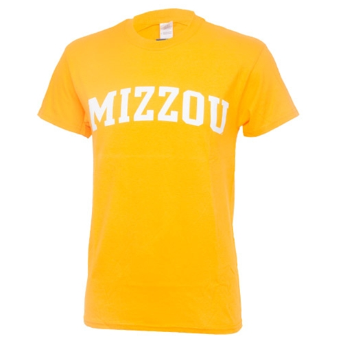 Mizzou Gold Crew Neck T-Shirt