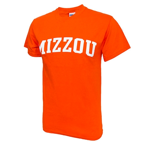 Mizzou Orange Crew Neck T-Shirt