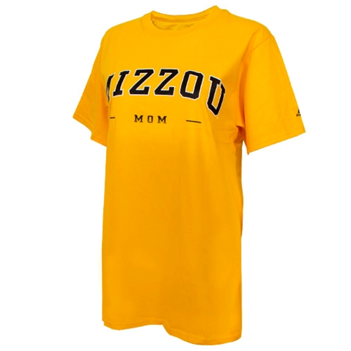 Mizzou Mom Women's Gold Crew Neck T-Shirt