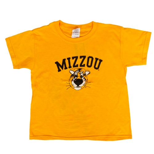Mizzou Kids' Truman Gold Crew Neck T-Shirt