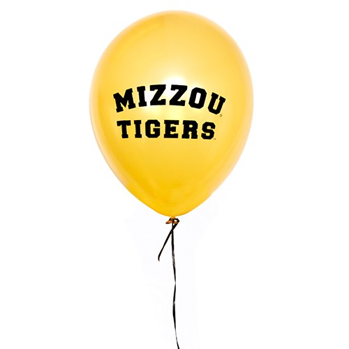 Mizzou Tigers Black & Gold Balloons Pack of 10