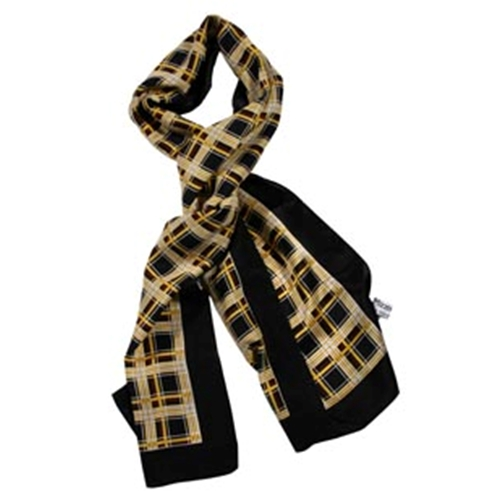 Mizzou Official Plaid Silk Scarf