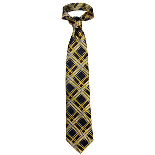 Mizzou Official Plaid Silk Tie