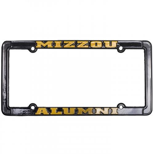Mizzou Alumni Tiger Head Black Single License Plate Frame