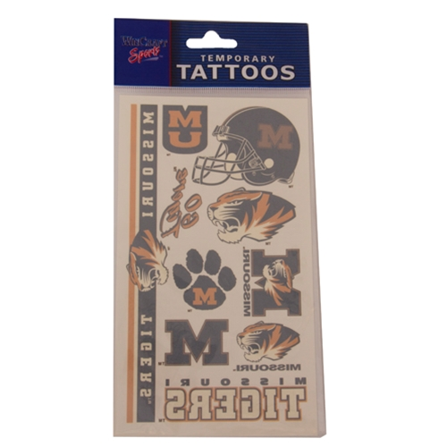 Missouri Tigers Assorted Temporary Tattoos