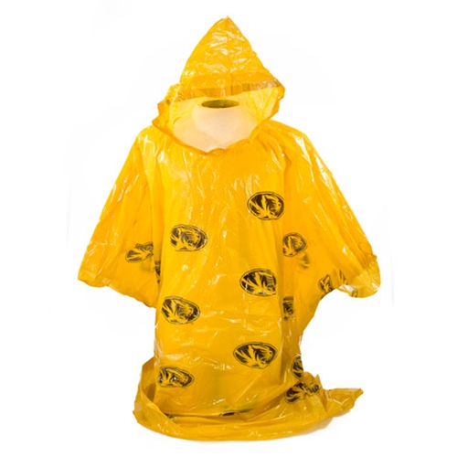 Mizzou Oval Tiger Head Gold Poncho